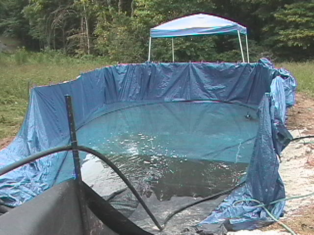 bradleys home made water slide - Diy Above Ground Pool Slide
